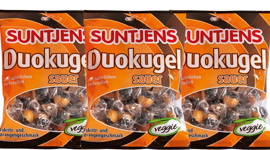 Duo Kugeln Organge-Lakritz